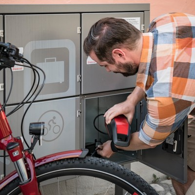 E-Bike Ladestation in Moosburg a.d.Isar