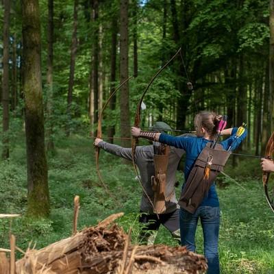 Bogenschützen im Bogenpark Hohenkammer