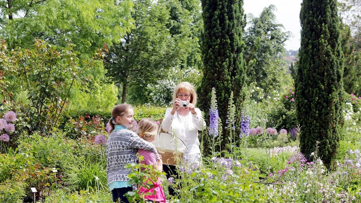 Malerischer Oberdieckgarten, Weihenstephaner Gärten in Freising