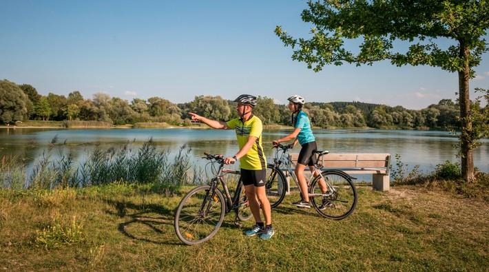 Radfahrer am Kranzberger See