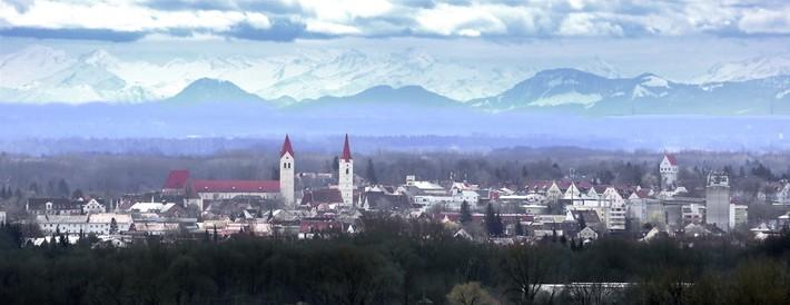 Panoramablick auf Moosburg