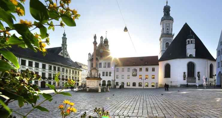 Innenstadt von Freising mit Marienplatz