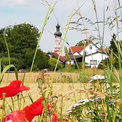 Gemeinde Kirchdorf mit der Pfarrkirche St. Martin