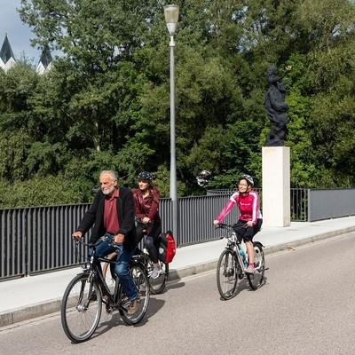 Auf der Korbiniansbrücke in Freising