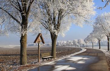 Winterlandschaft in der Region Freising
