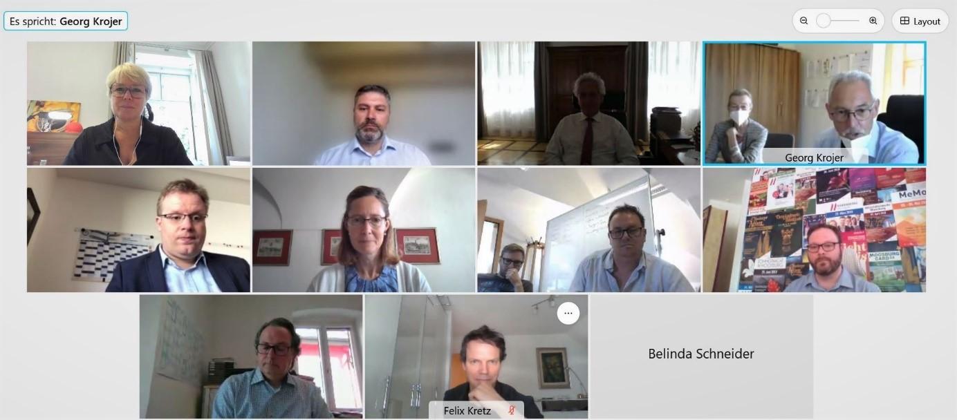 Teilnehmer des digitalen Netzwerktreffens Tourismus am 11.06.2021
