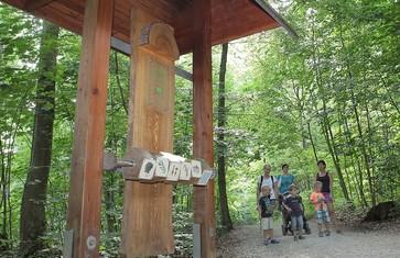 Mitmach-Station entlang des Walderlebnispfades im Freisinger Forst