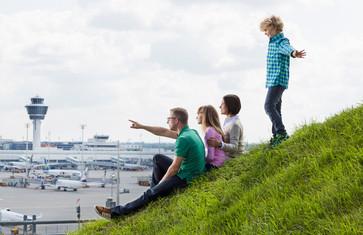 Besucherhügel im Besucherpark Flughafen München