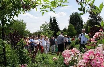 Gartenführung mit Ulrike Leyhe im Staudengarten der Weihenstephaner Gärten in Freising